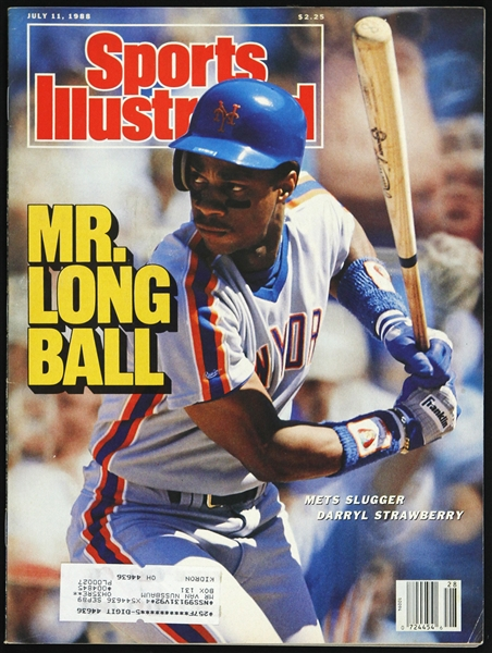1988 Darryl Strawberry New York Mets Sports Illustrated