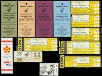 1980's Chicago Sting Tickets, Ticket Stubs, Press Passes, and Photo Pass (Lot of 13)