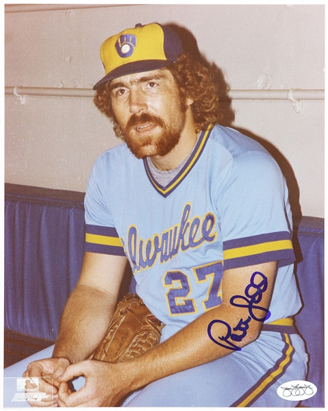 1982-85 Pete Ladd Milwaukee Brewers Autographed 8x10 Color Photo *JSA*