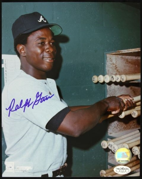 "1968-75 Ralph Garr Atlanta Braves Signed 8""x 10"" Photo *JSA*"