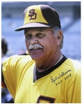 "1982-1985 Dick Williams San Diego Padres Signed 11""x 14"" Photo (JSA)"