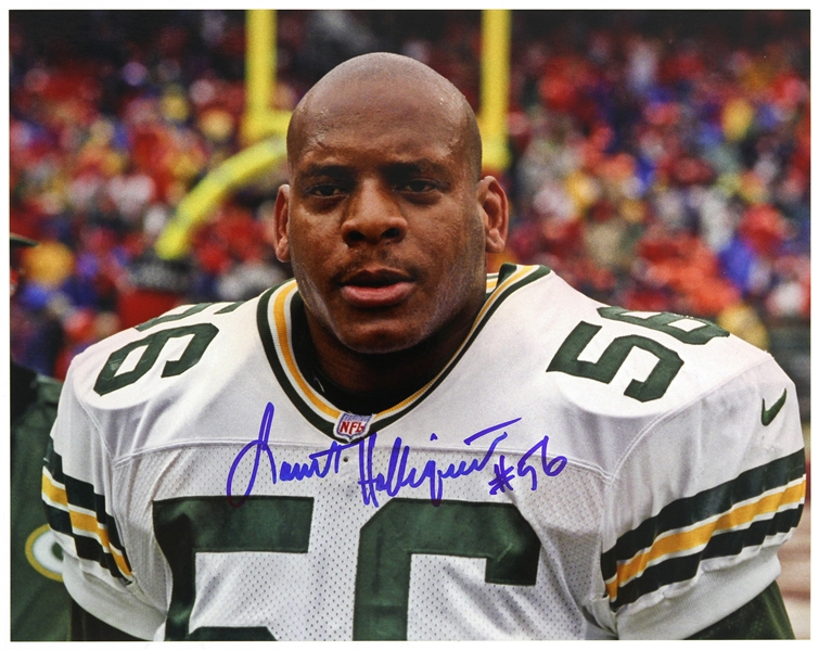 "1996-1998 Lamont Hollinquest Green Bay Packers Signed 8""x 10"" Photo (JSA)"