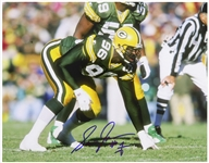 "1994-1996 Sean Jones Green Bay Packers Signed 11""x 14"" Photo (JSA)"