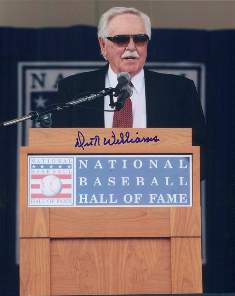 "2008 Dick Williams Hall of Fame Induction Speech Colored 8""x10"" Photo (JSA)"