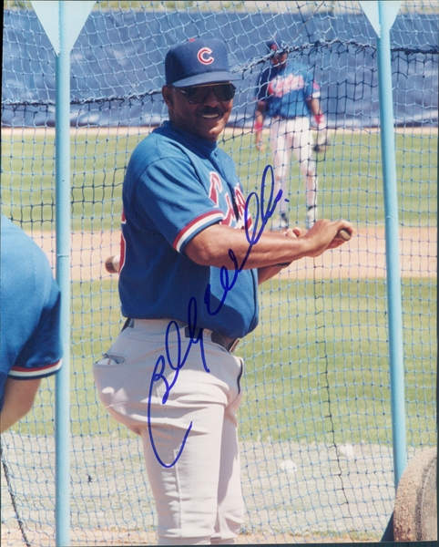 "1980s Billy Williams Chicago Cubs Autographed Colored 8""x10"" Photo (JSA)"