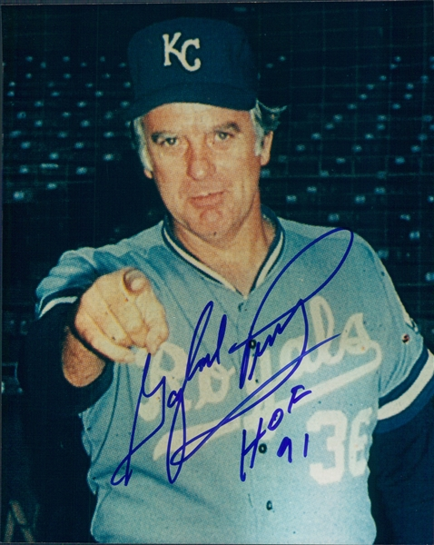 "1983 Gaylord Perry Kansas City Royals Autographed Color 8""x10"" Photo (JSA)"