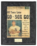 1950s Early Wynn Chicago White Sox Signed Cut Framed 17x21 (JSA)