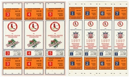 1987 St. Louis Cardinals Full Ticket Sheets (2) NLDS & World Series