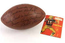 1985 Bart Starr Green Bay Packers Signed & Inscribed Football w/ Football Pointers Booklet (*JSA*)