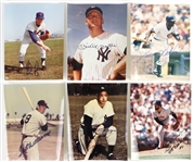 "1990s Baseball Signed 8"" x 10"" Photo Collection - Lot of 6 w/ Ted Williams, Joe DiMaggio, Mickey Mantle, Nolan Ryan & More (JSA)"