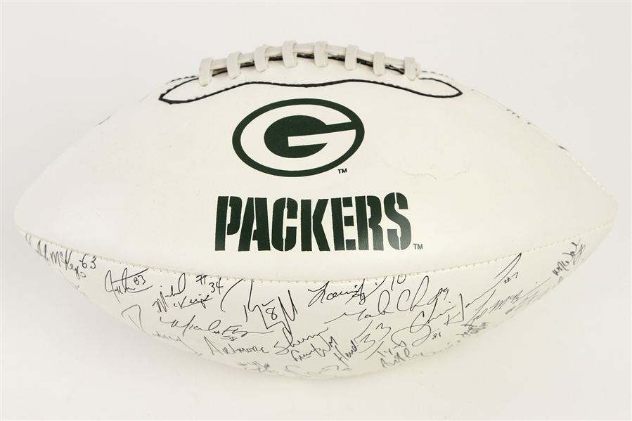 1999 Green Bay Packers Signature Stamped Football