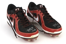 2013 Mike Trout Los Angeles Angels Signed Game Worn Nike Cleats (MEARS LOA & PSA/DNA & Player Letter)