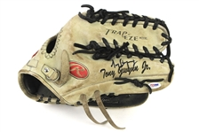 2008 Tony Gwynn Jr. Milwaukee Brewers Signed Rawlings Game Used Fielders Mitt (MEARS LOA & PSA/DNA & Player Letter)