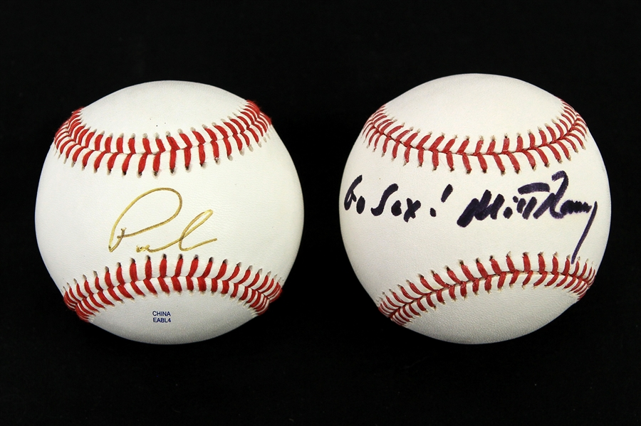 2012 Mitt Romney Paul Ryan Republican Presidential Nominees Signed Baseballs & Letter - Lot of 3 (PSA/DNA & JSA)