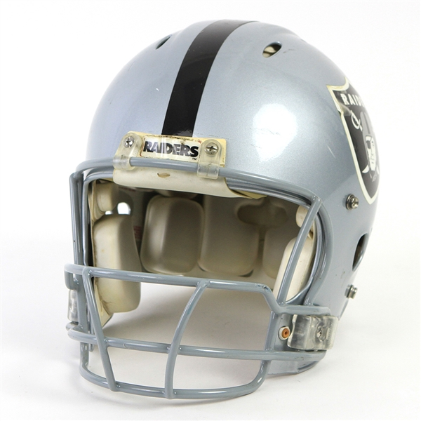 "2001-04 Jerry Rice Oakland Raiders Game Worn Helmet (MEARS LOA) ""Possibly His Last Raiders Helmet"""