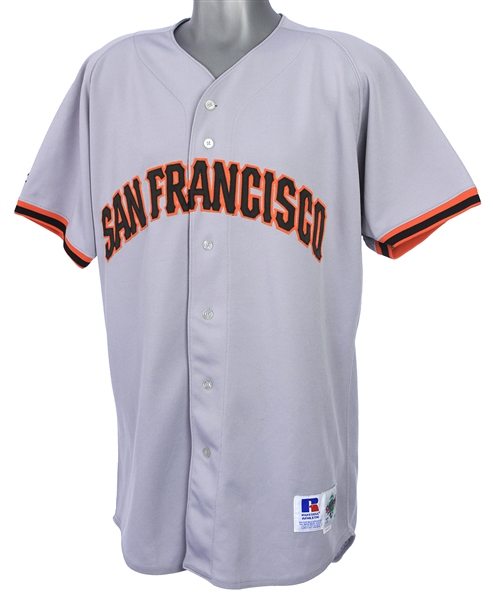 1996 Shawen Estes San Francisco Giants Game Worn Road Jersey (MEARS LOA)