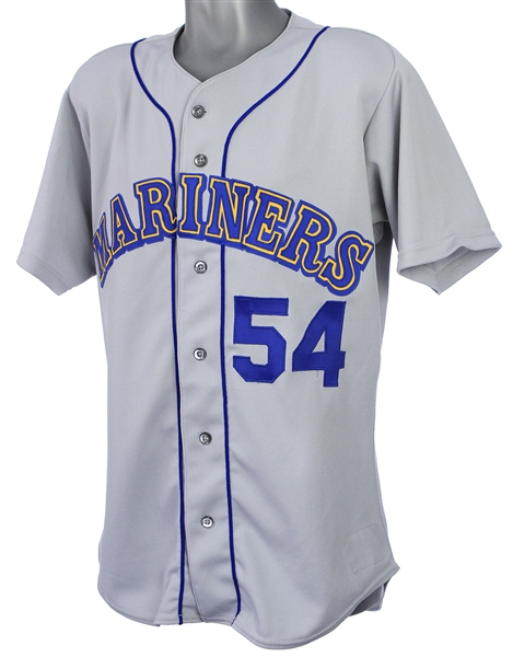 1992 Tim Leary Seattle Mariners Game Worn Road Jersey (MEARS LOA)