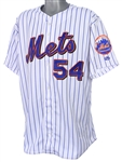 2001 Charlie Hough New York Mets Signed Game Worn Home Jersey (MEARS LOA/JSA)