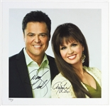 "2009 Donny & Marie Osmond Signed 16"" x 16"" Lithograph (Donny & Marie COA) 50/300"