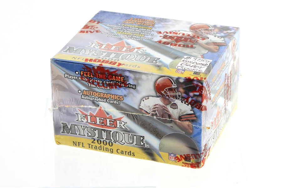 2000 Fleer Mystique Factory Sealed Wax Box w/ 20 Packs of 5 Cards Each (Possible Brady Rookie)