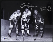 "1957-1980 Bobby Hull Stan Mikita Chicago Blackhawks Signed 8"" x 10"" Photo (Beckett)"