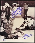 "2000s Bobby Hull Glenn Hall Chicago Blackhawks Signed 8"" x 10"" Photo (Beckett)"