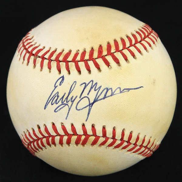 1993-94 Early Wynn Cleveland Indians Signed OAL Brown Baseball (JSA)
