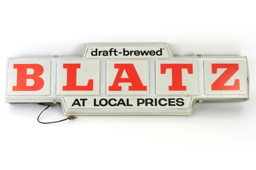 "1966 Blatz Beer 11""x 37"" Lighted Advertising Sign"
