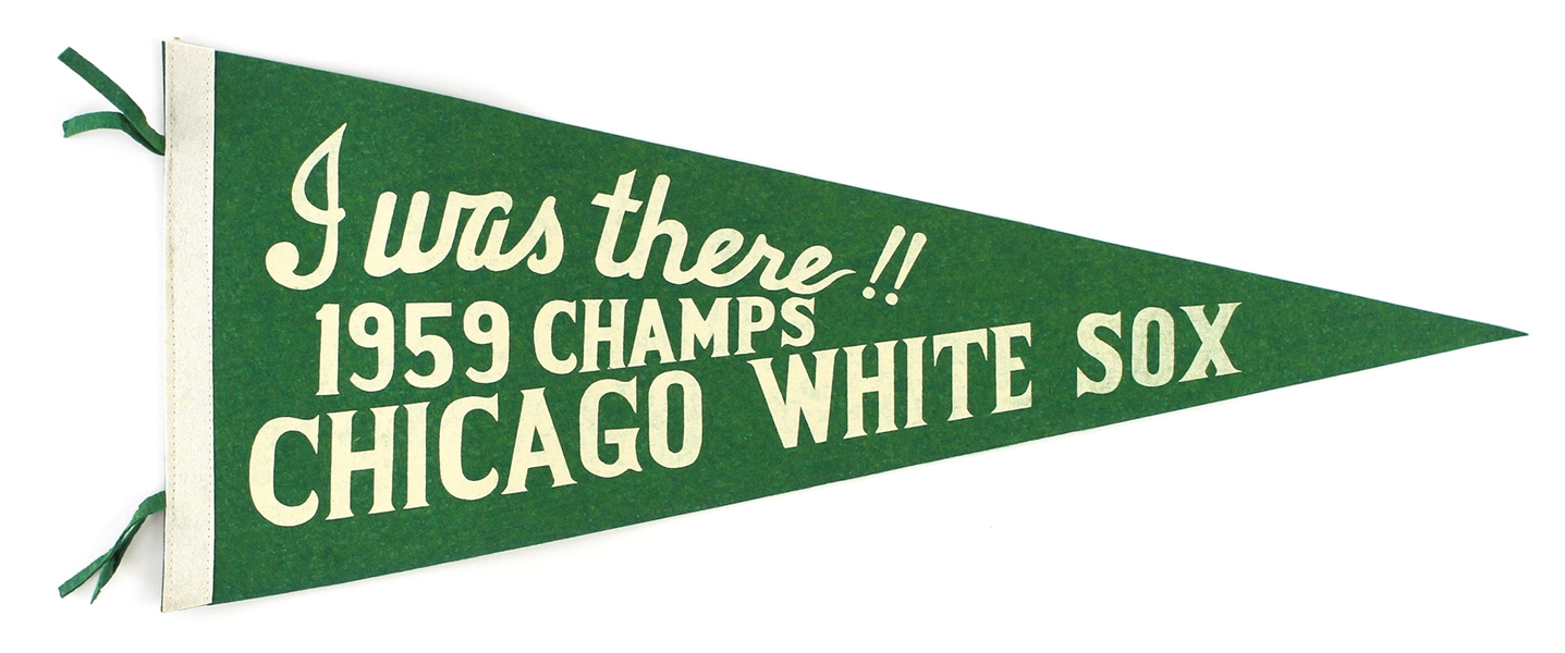 "1959 Chicago White Sox ""I Was There"" American League Champions 28"" Full Size Pennant"