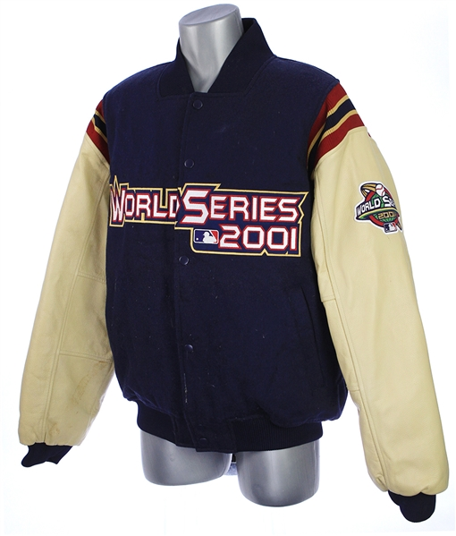 2001 Matt Williams Arizona Diamondbacks Game Worn World Series Letterman Style Jacket