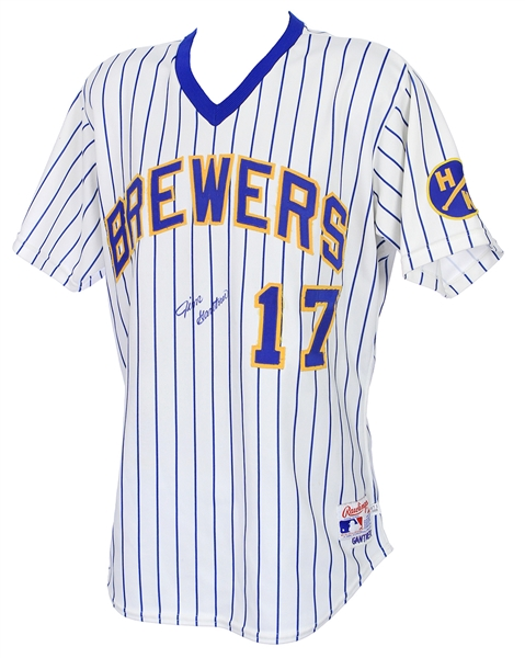 1988 Jim Gantner Milwaukee Brewers Signed Game Worn Home Jersey (MEARS A9/JSA)
