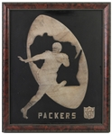 "1960s Green Bay Packers 18"" x 22"" Framed Logo Display"