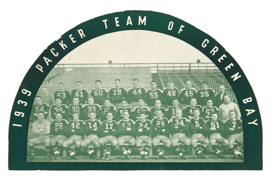 "1939 NFL Champion Green Bay Packers 6.5"" x 10"" Team Photo"
