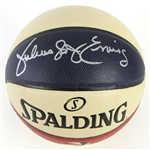 "2015 Julius ""Dr. J"" Erving New York Nets Signed Spalding Official ABA Basketball (*JSA*)"