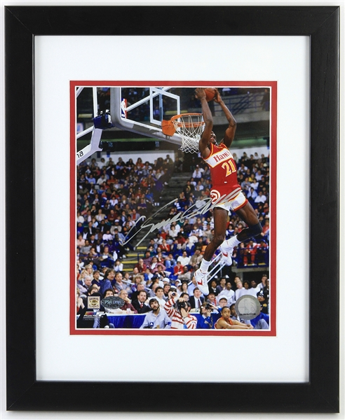 "2010 Dominique Wilkins Atlanta Hawks Signed 13"" x 16"" Framed Photo (PSA/DNA)"