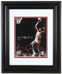 "2010 Julius ""Dr. J"" Erving New York Nets Signed 14.5"" x 17.5"" Framed Photo (PSA/DNA)"