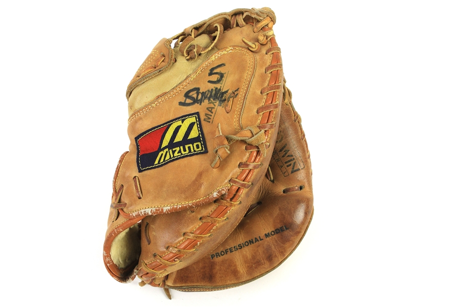 1988-92 BJ Surhoff Milwaukee Brewers Mizuno Game Used Catchers Mitt (MEARS LOA)