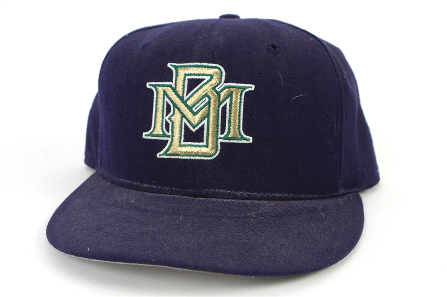 1996 Cris Carpenter Milwaukee Brewers Spring Training Game Worn Cap (MEARS LOA)