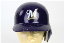 2016-17 Orlando Arcia Milwaukee Brewers Signed Game Worn Batting Helmet (MEARS LOA/JSA)