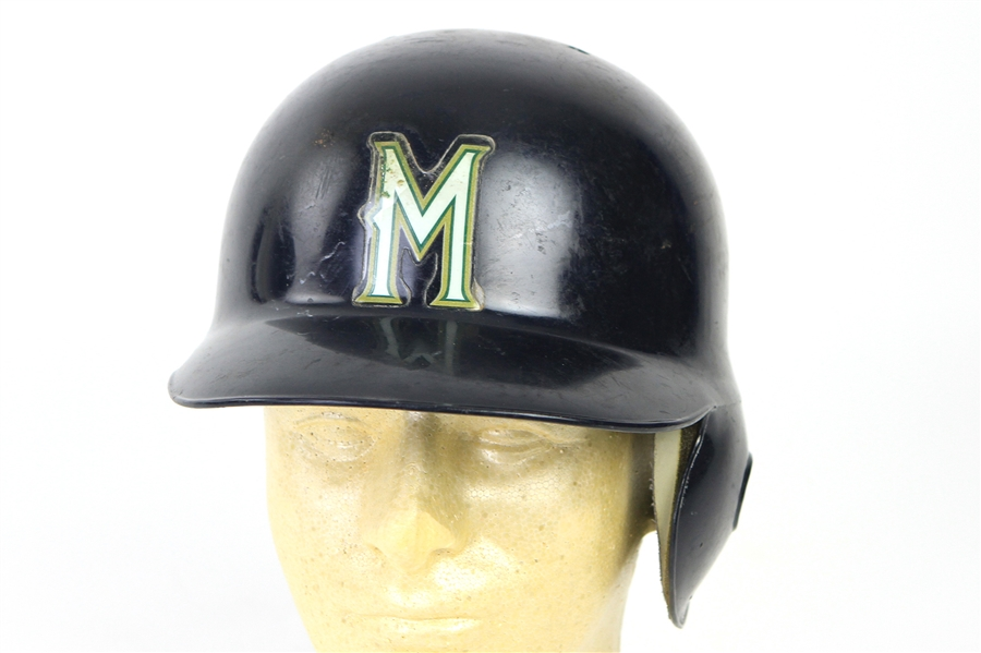 1997 Gerald Williams Milwaukee Brewers Game Worn Batting Helmet (MEARS LOA)