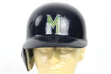 1998-99 Marcus Jensen/Brian Banks Milwaukee Brewers Game Worn Batting Helmet (MEARS LOA)