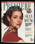 1989 Sean Young Blade Runner Signed Premier Magazine (JSA)