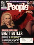 1996 Brett Butler Grace Under Fire Signed People Magazine (MEARS LOA)