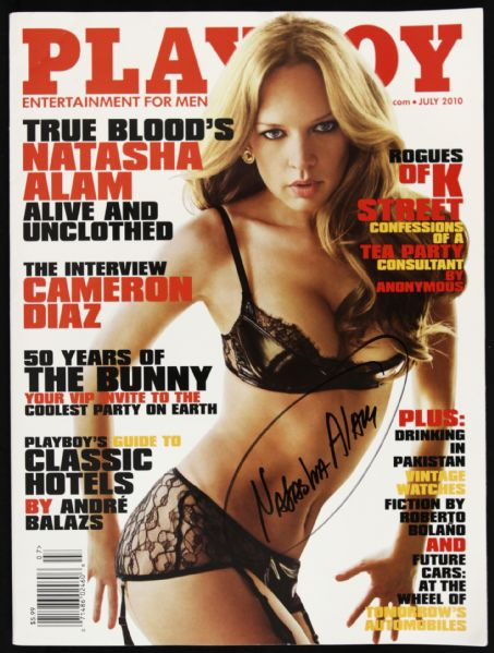 2010 Natasha Alam True Blood Signed Playboy Magazine (JSA)