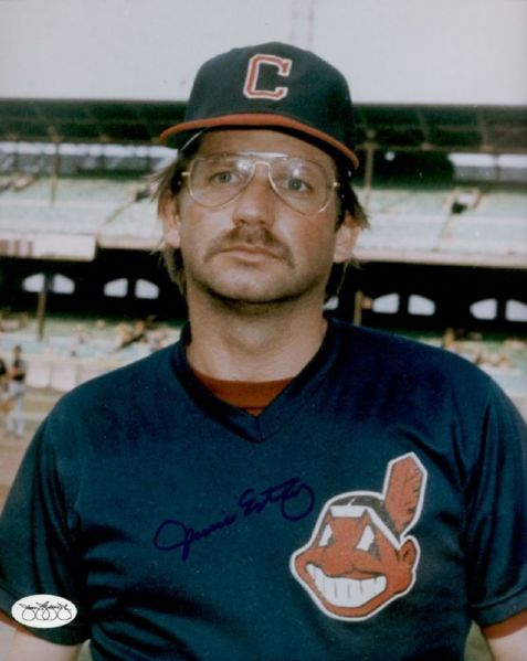 1983-87 Cleveland Indians Jamie Easterly Autographed 8x10 Color Photo (JSA)