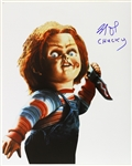 1988 Brad Dourif Child's Play (with Chucky wielding a knife) Signed LE 16x20 Color Photo (JSA)