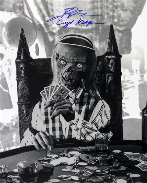 1989-1996 John Kassir Tales From The Crypt (poker pose) Signed LE 16x20 B&W Photo (JSA)