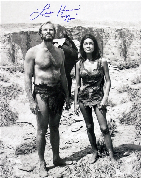 1968 Linda Harrison Planet of the Apes (side by side with Heston) Signed LE 16x20 B&W Photo (JSA)