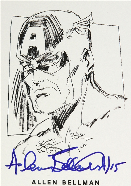 Allen Bellman Timely Comic Artist Signed LE Trading Card (JSA)