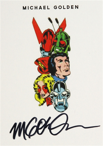 Michael Golden American Comic Artist (Micronauts head shots) Signed LE Trading Card (JSA)